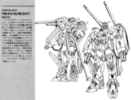 F90S Gundam F90 Support Type Lineart