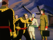 Mobile Suit Gundam Journey to Jaburo PS2 Cutscene 041 Black 3 stars M'quve