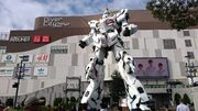 The Life-Sized Unicorn Gundam Statue
