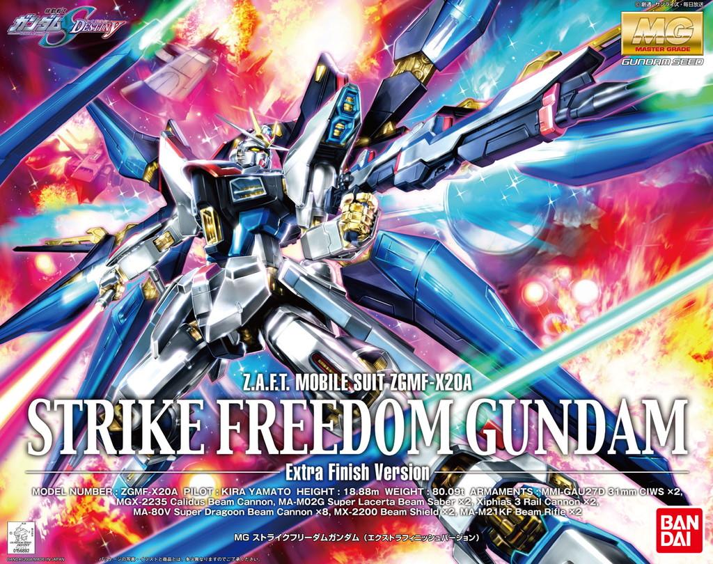 Zgmf X20a Strike Freedom Gundam The Wiki Fandom Powered Bandai Original Model Kits Sd V Mg Sf Extra Finish Version