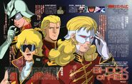 Char Aznable And Full Frontal Newtype Illustration by