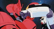 Nu Gundam punches Sazabi