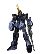 RX-0 Unicorn Gundam 02 Banshee (Unicorn Mode) CG Art (Front)