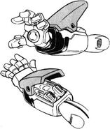XM-X3 - Crossbone Gundam X-3 - Left Arm I Field Generator