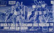 Gunpla HGUC RGM79 RX77D-WhiteDingo box