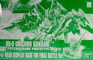 HG Unicorn Gundam Destroy Mode + Head Display Base Final Battle Ver
