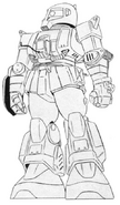 MS-06W Worker Zaku Lineart