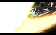 The only time the Reversible Gundam's beam saber is orange while the Amuro Ray AI pilots it