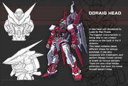 Gundam Astray Red Frame with Ddraig Head- Data