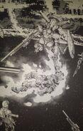Gelgoog Thunderbolt & the remains of the FA Gundam