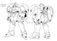 WMS-03 Maganac Abdul Custom Lineart Front and Rear