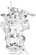 F71 G-Cannon Powered Weapon Type Rear Lineart