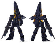 RX-0(N) Unicorn Gundam Banshee Norn Front and Back DE