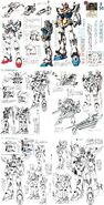 F91 gundam earlier designs