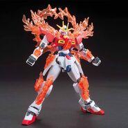 TBG-011B Try Burning Gundam (Gunpla) (Front With Burning Burst System Activated)