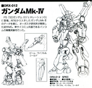 ORX-012 Gundam Mk-IV Back and Front lineart