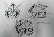 Early Gundam DX Head Design Junya Ishigaki