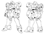 WMS-03 Maganac Lineart Front Rear Lineart