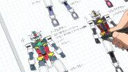 PFF-X7 Core Gundam Concept Sketches
