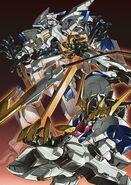 ASW-G-08 Gundam Barbatos Lupus Rex Y ASW-G-01 Gundam Bael