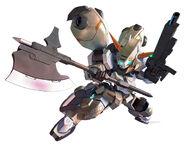 SD Gundam G Generation Crossrays Gundam Gusion Rebake