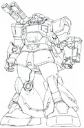 MS-09K-2 Dom Cannon lineart