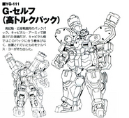 YG-111 Gundam G-Self High Torque Pack Lineart