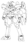OZ-00MS3 Tallgeese III Front Lineart