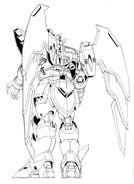 OZ-13MS Gundam Epyon Back View Lineart