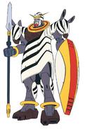 GF13-020NK Zebra Gundam Front