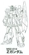 MSZ-010 Zeta Gundam Lineart