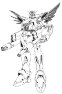 HWF91 Gundam F91 Heavy Weapons Type Front Lineart