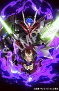 Tsukasa & Gundam Astray No-Name on Blu-Ray Poster