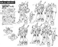 RGM-89J Jegan Normal Type Lineart