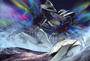 Turn A Gundam VS Turn X Illustration