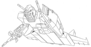 RX-78-2 Gundam + B-Parts Lineart