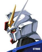 Strike Gundam Head Illust