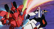 Sazabi vs Nu Gundam Beam Sabers