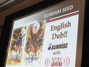 Gundam Panel at Otakon 2017 SEED GSD HD Remaster Dub