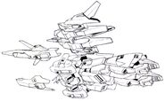 Lightning Gundam BWS BW Flight Mode bottom components