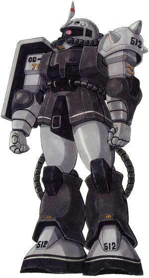 MS-06FS Zaku II Front - Eric Mansfield Use