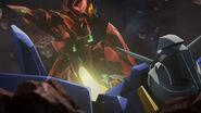 Zeydra defeats Gundam AGE-2
