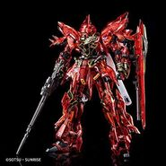 RG MSN-06S Sinanju (Clear Color) Pose