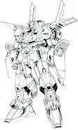 MSZ-009 Prototype ZZ Gundam Lineart