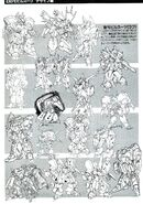 Gundam ZZ Rough Drafts Mobile Suits