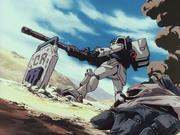 Gundam Ground type attacking