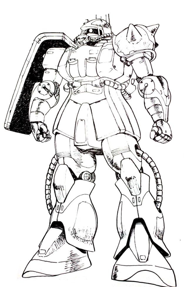 Zaku Lineart : Image kondo zaku eg the gundam wiki fandom powered