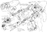 GB-9700 Gundam Belphagor Claw Arms