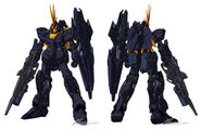 RX-0(N) Unicorn Gundam Banshee Norn Front and Back