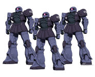 Gundam the Origin Black tri star MS- 05 Zaku I